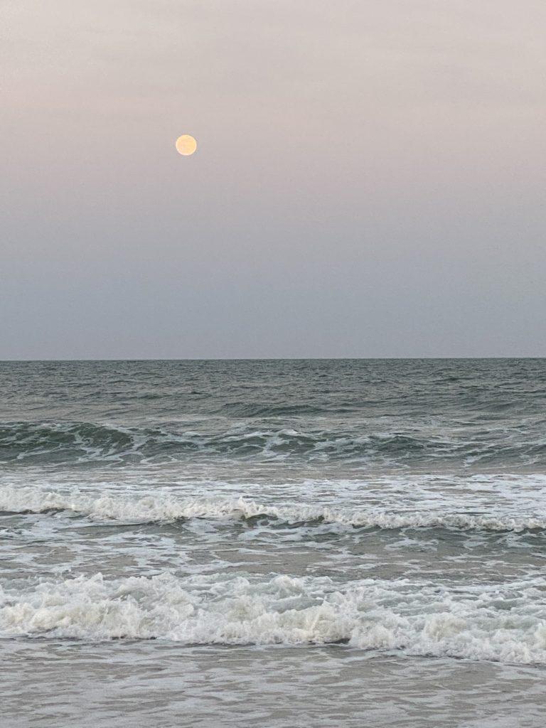 Full moon at Garden City Beach, sC